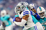 Dallas Cowboys running back Darius Jackson (34) in action during the pre-season game between the Miami Dolphins and the Dallas Cowboys at the AT & T stadium in Arlington, Texas.