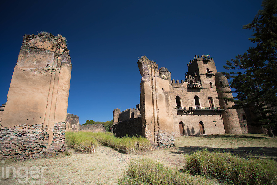 The fortress of Gonder, Ethiopia