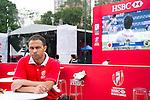 Brian O'Driscoll at the Sevens Village during HSBC Hong Kong Rugby Sevens 2016 on 08 April 2016 at Hong Kong Stadium in Hong Kong, China. Photo by Moses Ng / Power Sport Images