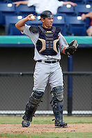 October 5, 2009:  Catcher John Murrian of the Detroit Tigers organization during an Instructional League game at Space Coast Stadium in Viera, FL.  Murrian was selected in the 9th round of the 2009 MLB Draft.  Photo by:  Mike Janes/Four Seam Images