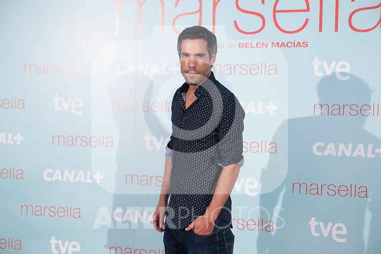 Unax Ugalde poses at `Marsella´ film premiere photocall at Capital cinema in Madrid, Spain. July 17, 2014. (ALTERPHOTOS/Victor Blanco)