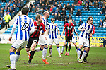 Kilmarnock v St Johnstone...05.04.14    SPFL<br /> Frazer Wright heads the ball in to make it 1-1<br /> Picture by Graeme Hart.<br /> Copyright Perthshire Picture Agency<br /> Tel: 01738 623350  Mobile: 07990 594431