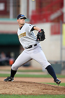 Trenton Thunder Relief Pitcher Ryan Pope (22) during a game vs. the Erie Seawolves at Jerry Uht Park in Erie, Pennsylvania;  June 23, 2010.   Trenton defeated Erie 12-7  Photo By Mike Janes/Four Seam Images