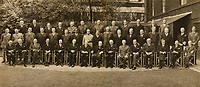BNPS.co.uk (01202 558833)<br /> Pic: ChiswickAuctions/BNPS<br /> <br /> Pictured: The photo was shot in the back garden of 10 Downing Street on April 27, 1944<br /> <br /> A never-before-seen photograph showing Prime Minister Winston Churchill hosting the very first conference of the heads of the Commonwealth at a critical time in the war has come to light.<br /> <br /> The 23ins by 27ins black and white photo was shot in the back garden 10 Downing Street on April 27, 1944, just five weeks before the Allied invasion of Nazi-occupied France.<br /> <br /> The prime ministers of Canada, Australia, New Zealand and South Africa were among the VIPS who attended the historic event.<br /> <br /> The unique photo is coming up for sale at Chiswick Auctions. p