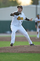 Burlington Bees Winston Lavendier (44) throws during the Midwest League game against the Peoria Chiefs at Community Field on June 9, 2016 in Burlington, Iowa.  Peoria won 6-4.  (Dennis Hubbard/Four Seam Images)