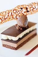 Europe/France/Bretagne/35/Ille et Vilaine/Saint-Malo/ Saint-Servan: Duo chocolat, rien que du chocolat,  recette de Luc Mobihan - restaurant: Le Saint-Placide