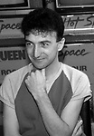 "John Deacon of Queen attend Queen Press Conference for ""Hot Space"" at Crazy Eddie's on July 27, 1982  in New York City."