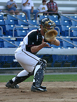 August 25, 2003:  Mike McGuistion of the Williamsport Crosscutters during a game at Bowman Field in Williamsport, Pennsylvania.  Photo by:  Mike Janes/Four Seam Images