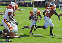 23 September 2006: Texas back Selvin Young finds an opening on his way to a touchdown during the Longhorns 37-14 victory over the Iowa State Cyclones at Darrell K Royal Memorial Stadium in Austin, TX.