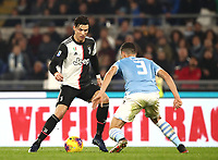 Football, Serie A: S.S. Lazio - Juventus Olympic stadium, Rome, December 7, 2019. <br /> Juventus' Cristiano Ronaldo (l) in action with Lazio's Luis Felipe (r) during the Italian Serie A football match between S.S. Lazio and Juventus at Rome's Olympic stadium, Rome on December 7, 2019.<br /> UPDATE IMAGES PRESS/Isabella Bonotto