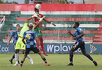 TULUA - COLOMBIA, 25-10-2021: Cortuluá y Boyacá Chicó F.C. en partido por la fecha 14 como parte del Torneo BetPlay DIMAYOR II 2021 jugado en el estadio Doce de Octubre de la ciudad de Tuluá. / Cortulua and Boyaca Chico F.C. in the match for the date 14 as part of BetPlay DIMAYOR Tournament II 2021 played at Doce de Octubre stadium in Tulua city. Photo: VizzorImage / Samir Rojas / Cont