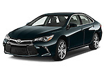 2015 Toyota Camry Se 4 Door Sedan angular front stock photos of front three quarter view