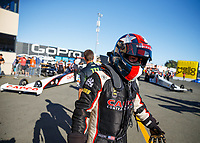 Jul 28, 2017; Sonoma, CA, USA; NHRA top fuel driver Steve Torrence during qualifying for the Sonoma Nationals at Sonoma Raceway. Mandatory Credit: Mark J. Rebilas-USA TODAY Sports
