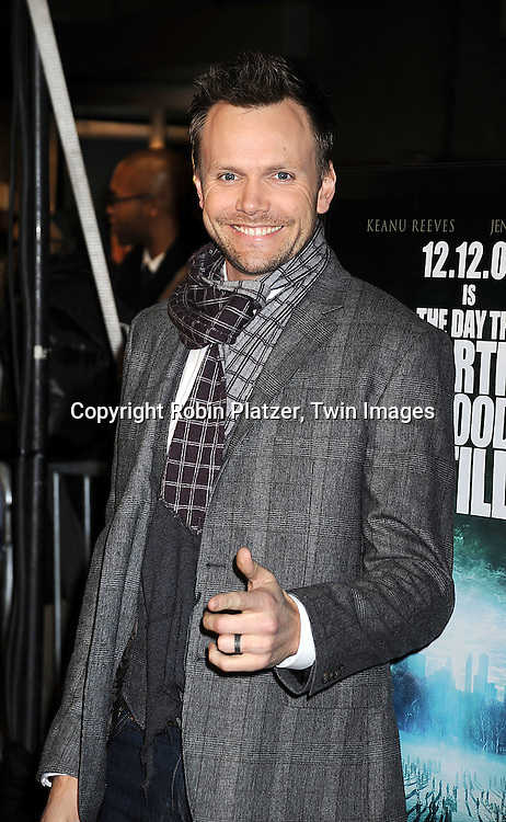 """Joel McHale, host of """"The Soup"""" on E Television ..at The New York Premiere of """"The Day the Earth Stood Still"""" on December 9, 2008 at the AMC Loews Lincoln Square. Keanu Reeves, Jennifer Connelly, Kathy Bates, ..Jaden Smith and Jon Hamm are in the movie....Robin Platzer, Twin Images"""