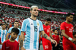 Emanuel Mammana of Argentina getting into the field during the International Test match between Argentina and Singapore at National Stadium on June 13, 2017 in Singapore. Photo by Marcio Rodrigo Machado / Power Sport Images