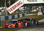 #93 Michael Shank Racing with Curb-Agajanian Acura NSX, GTD: Lawson Aschenbach, Justin Marks, Mario Farnbacher ,#86 Michael Shank Racing with Curb-Agajanian Acura NSX, GTD: Katherine Legge, Alvaro Parente, Trent Hindman