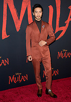 """LOS ANGELES, CA: 09, 2020: Yoson An at the world premiere of Disney's """"Mulan"""" at the El Capitan Theatre.<br /> Picture: Paul Smith/Featureflash"""