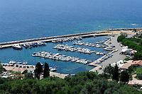 Hafen von Cargese, Korsika, Frankreich