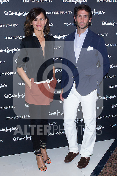 28.06.2012. Tom Ford opens its first ´Temple of Beauty´ in Madrid with Goya Toledo and Sebastian Palomo Danko in the El Corte Ingles of Castellana in Madrid. In the image Goya Toledo and Sebastian Palomo Danko  (Alterphotos/Marta Gonzalez)