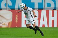 28th August 2021; Arena do Gremio, Porto Alegre, Brazil; Brazilian Serie A, Gremio versus Corinthians; Giuliano of Corinthians heads the ball forward