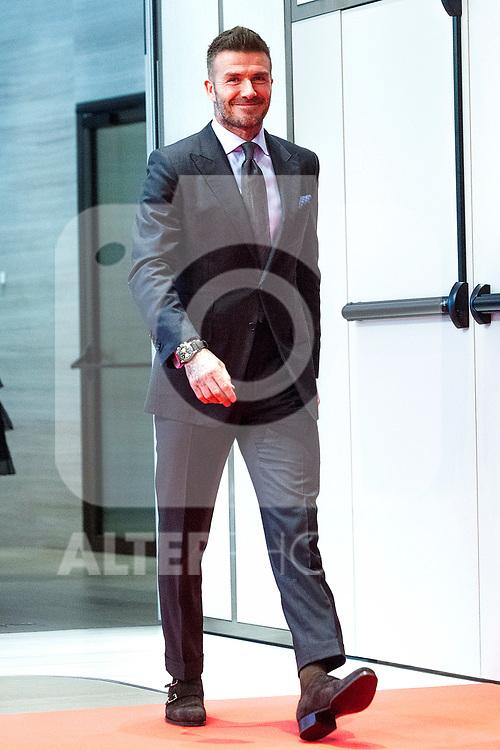 David Beckham attends the Tudor New Collection presentation at VP Plaza España Design Hotel on April 29, 2019 in Madrid, Spain. (ALTERPHOTOS/Alconada).