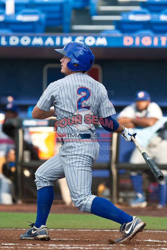 Matt Cerda #2 of the Daytona Cubs during game 3 of the Florida State League Championship Series against the St. Lucie Mets at Digital Domain Park on Spetember 11, 2011 in Port St. Lucie, Florida. Daytona won the game 4-2 to win the Florida State League Championship.  Photo by Scott Jontes / Four Seam Images