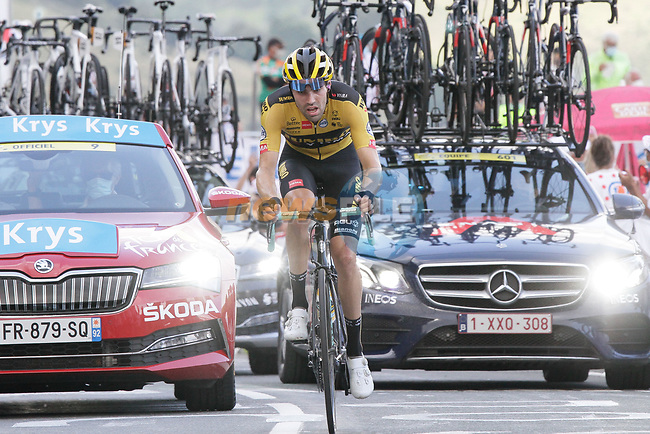 Tom Dumoulin (NED) Team Jumbo-Visma summits the Col de Peyresourde during Stage 8 of Tour de France 2020, running 141km from Cazeres-sur-Garonne to Loudenvielle, France. 5th September 2020. <br /> Picture: Colin Flockton | Cyclefile<br /> All photos usage must carry mandatory copyright credit (© Cyclefile | Colin Flockton)