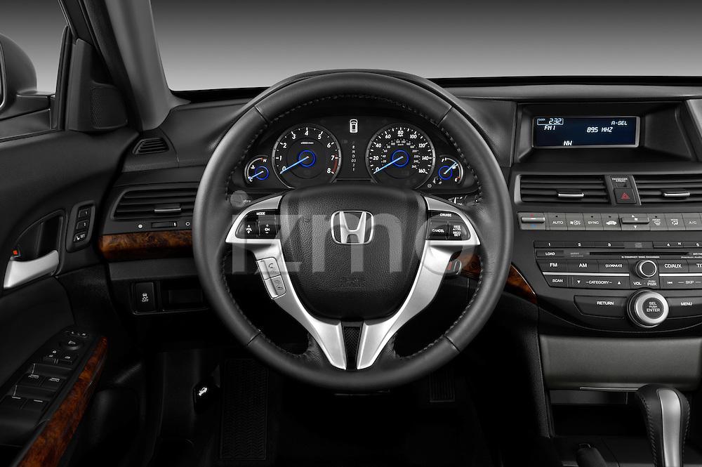 Steering wheel view of a 2012 Honda Crosstour EXL