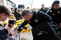 Photo: Richard Lane/Richard Lane Photography. Wasps v Sale Sharks. Aviva Premiership. 20/03/2016. Wasps' Jimmy Gopperth signs autographs.