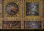 Ceiling Panels Life of Cosimo I Vasari Salone dei Cinquecento (Hall of 500) Palazzo Vecchio Florence
