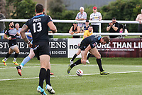 Ben Hellewell of London Broncos scores his 2nd try of the game to make the score 28-10 during the Kingstone Press Championship match between London Broncos and Sheffield Eagles at Castle Bar , West Ealing , England  on 9 July 2017. Photo by David Horn.