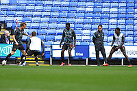 Watford  players warm up with Ben Wilmot of Watford left on the ball during Reading vs Watford, Sky Bet EFL Championship Football at the Madejski Stadium on 3rd October 2020
