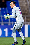 Kitchee Goalkeeper Wang Zhenpeng in action during their AFC Champions League 2017 Playoff Stage match between Ulsan Hyundai FC (KOR) vs Kitchee SC (HKG) at the Ulsan Munsu Football Stadium on 07 February 2017 in Ulsan, South Korea. Photo by Chung Yan Man / Power Sport Images