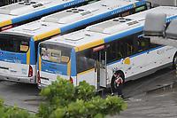 Rio de Janeiro (RJ), 17/03/2020 - Covid-19-Rio - Para prevencao ao coronavirus (Covid-19) onibus do transporte publico sao lavados e higienizados outros horarios na garagem da empresa Redentor na zona oeste do Rio de Janeiro, nesta terca-feira (17). (Foto: Alexandre Durao/Codigo 19/Codigo 19)