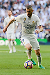 Real Madrid's Karim Benzema during La Liga match between Real Madrid and Atletico de Madrid at Santiago Bernabeu Stadium in Madrid, April 08, 2017. Spain.<br /> (ALTERPHOTOS/BorjaB.Hojas)