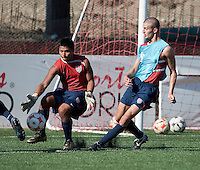 Marlon Duran and Perry Kitchen training before the 2009 CONCACAF Under-17 Championship From April 21-May 2 in Tijuana, Mexico