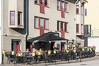 Pizzeria Sorrento auf Borgmästaregatan  in Karlskrona, Provinz Blekinge, Schweden, Europa<br /> Pizzeria Sorrento at Borgmästaregatan in Karlskrona, Province Blekinge, Sweden