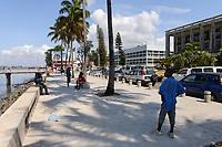 MOZAMBIQUE, Maputo, government buildings at Avenida Marginal / MOSAMBIK, Maputo, Regierungsgebaeude an der Avenida Marginal