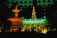 Entrance of Breaker's hotel at Christmas, Palm Beach, Florida
