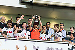 Tottenham Hotspur Forward Heung-Min Son (C) celebrating with his trophy during the Friendly match between Kitchee SC and Tottenham Hotspur FC at Hong Kong Stadium on May 26, 2017 in So Kon Po, Hong Kong. Photo by Man yuen Li  / Power Sport Images