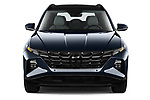 Car photography straight front view of a 2022 Hyundai Tucson Limited 5 Door SUV Front View