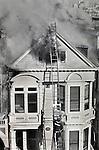 A three alarm fire at 852 Fell Street in San Francisco on 12/01/89.