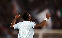 Calcio, Serie A: Roma, stadio Olimpico, 22 ottobre 2017.<br /> Lazio's Jacinto Quissanga Bastos celebrates after scoring during the Italian Serie A football match between Lazio and Cagliari at Rome's Olympic stadium, October 22, 2017.<br /> UPDATE IMAGES PRESS/Isabella Bonotto