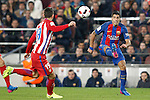 FC Barcelona's Luis Suarez (r) and Atletico de Madrid's Lucas Hernandez during Spanish Kings Cup semifinal 2nd leg match. February 07,2017. (ALTERPHOTOS/Acero)