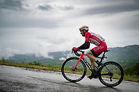 Nicolas Edet (FRA/Cofidis) up the Colle Passerino (3km from the finish)<br /> <br /> 104th Giro d'Italia 2021 (2.UWT)<br /> Stage 4 from Piacenza to Sestola (187km)<br /> <br /> ©kramon