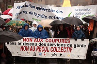 Manif contre les coupures dans les Centres de la Petite enfance., Decembre 2003<br /> <br /> Demonstration against cuts in the subvention to kindergarden, December 2003,<br /> <br /> <br /> (c) : 2006, Images Distribution