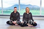 Adrian and Elaine O'Donoghue who are moving their Nava Yoga studio to Killarney Racecourse