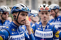 Julian ALAPHILIPPE (FRA/Deceuninck-Quick Step) at the race start in Leuven<br /> <br /> 59th De Brabantse Pijl - La Flèche Brabançonne 2019 (1.HC)<br /> One day race from Leuven to Overijse (BEL/196km)<br /> <br /> ©kramon