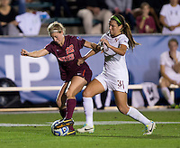Nickolette Driesse, Morgan Conklin. Florida State defeated Virginia Tech, 3-2,  at the NCAA Women's College Cup semifinals at WakeMed Soccer Park in Cary, NC.