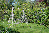 Swing in the garden at Kirk House, Chipping, Preston, Lancashire.
